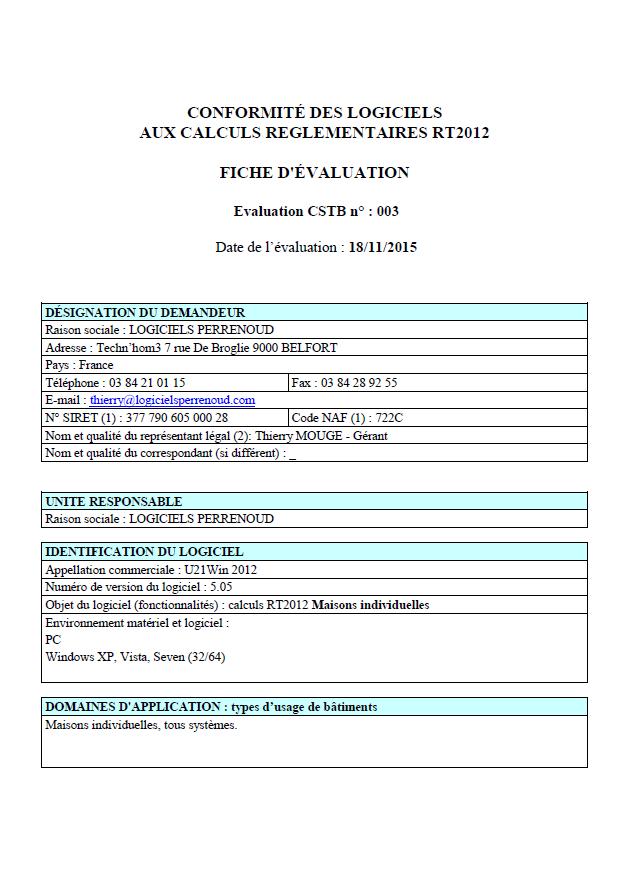 Certification du logiciel (1/4)