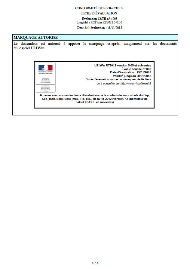 Certification du logiciel (4/4)